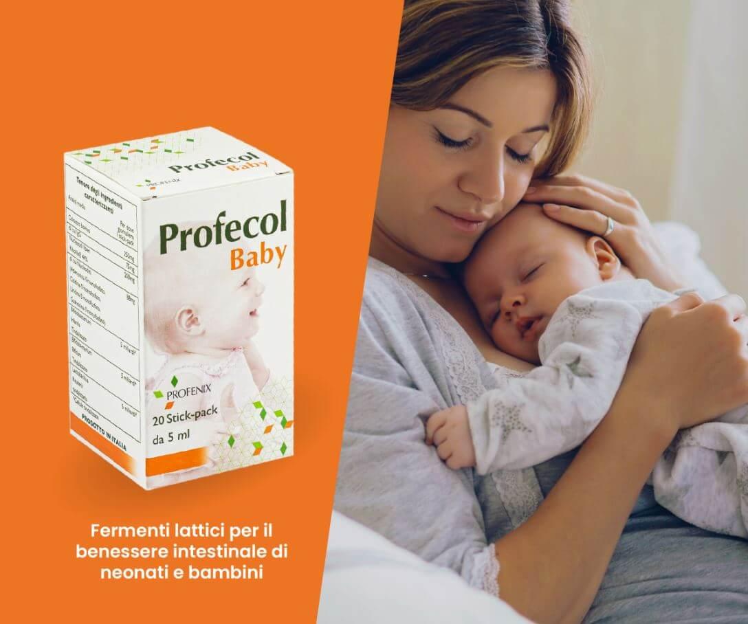 Profecol Baby con Fermenti lattici e Colostro per il benessere intestinale dei bambini