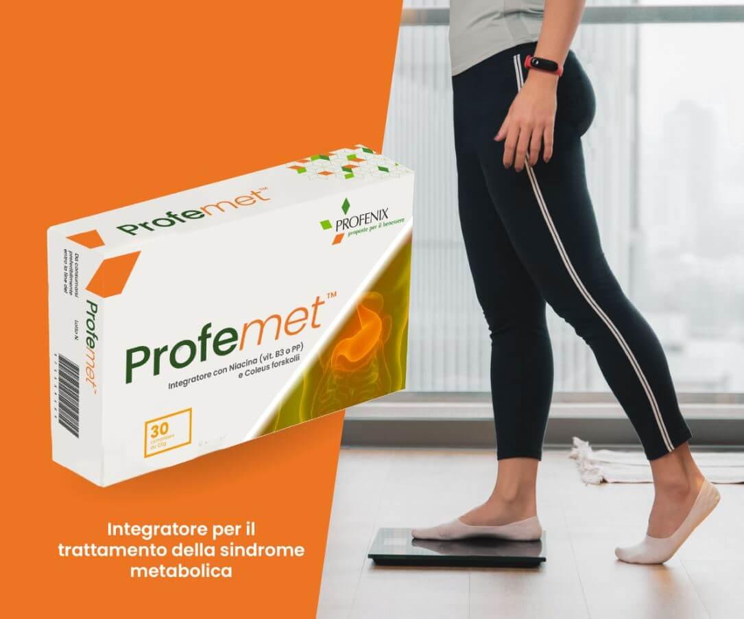 Profemet scatola integratore per il trattamento della sindrome metabolica